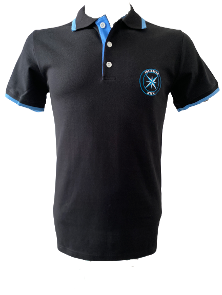 AMCA polo Zwart/Blauw