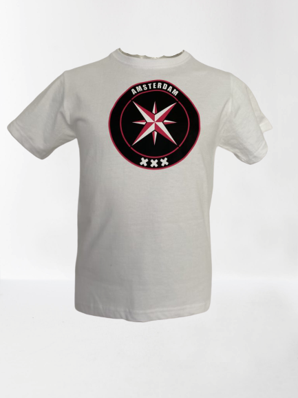 AMCA Ster Shirt Wit fuchsia
