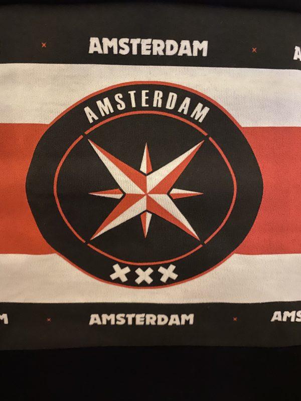 AMCA Banner Wit/Rood/Wit