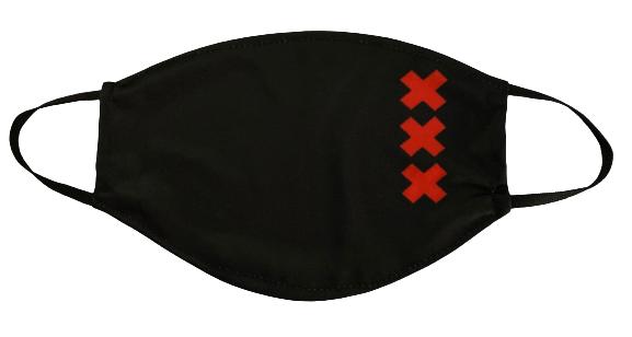 Mondkapje duo pack AANBIEDING XXXkruizen  Casuals logo rood/zwart
